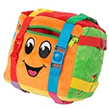 Buckle Toy - Bingo Cube - Toddler Plush Activity Toy - Develop Fine Motor Skills - Counting and Math - Storage for Small Items