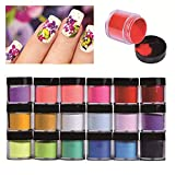 Best Acrylic Powders - HitHopKing 18 Colors Acrylic Powder Set for Nail Review