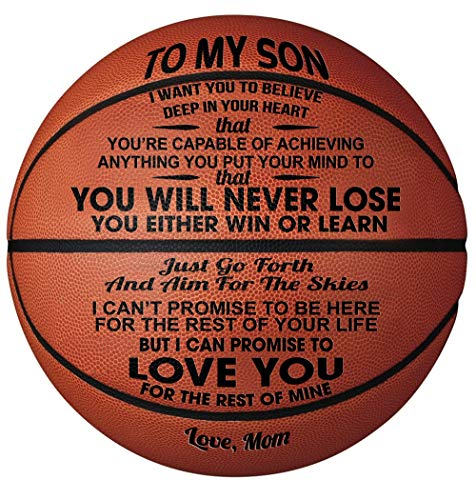 Check Out This GadgetsTalk Engraved Basketball Gift - Unique Gifts for Son from MOM - You Will Never...