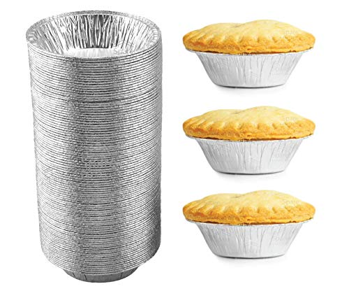 120 Pack - Pie Pans 5 Inch, Disposable Pie Tins, Aluminum Pie Pans, Foil Tart Pans used for Baking, Storage and Reheating / Pies, Tart and Quiche by Spare Essentials