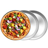 TeamFar Pizza Pan, 10 inch Pizza Pans Pizza Tray Stainless Steel for Oven Baking, Non Toxic &...