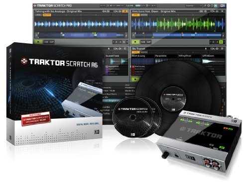 *NATIVE INSTRUMENTS Traktor Scratch A6 - SOFTWARE DIGITAL VINYL + INTERFACCIA AUDIO A6 + TIMECODE