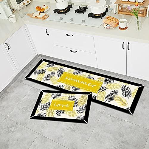WESG Alfombrillas de Cocina, alfombras absorbentes para el balcón del Dormitorio y la Sala de Estar, alfombras Modernas Antideslizantes para la Entrada de la casa NO.4 50X80cm