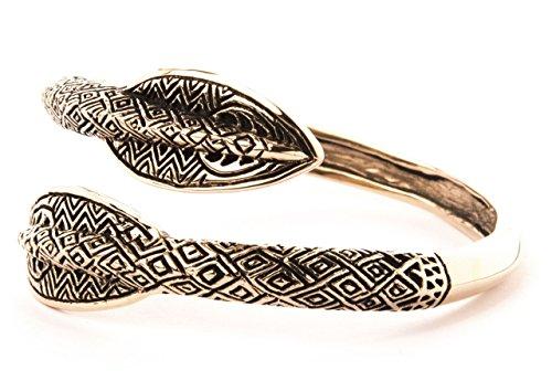 Windalf Unisex Vintage Vikinger Armreif ÂRAWIN Ø 5.5 cm Bohemia Elven Warrior Armschmuck Speerspitzen Mittelalter Hochwertige Bronze