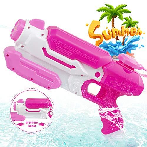 O-Kinee Spielzeug Wasserpistole Spritzpistole Wasserspritzpistolen für Mädchen Jungen, Outdoor Beach Water Shooter Gartenspielzeug Wasser-Kampfspielzeug für Erwachsene (Pink)
