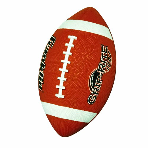 Franklin Sports Junior Football - Grip-Rite 100 - Kids Junior Size Rubber Football - Youth Football - Durable Outdoor Rubber Football - Classic Brown