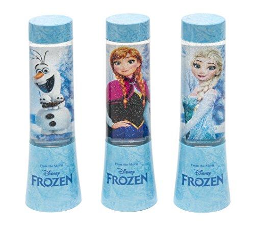 Joy Toy 68894 _ 12 Disney Frozen (la Reine des Neiges) LED glitzerlampen dans emballage Tube de piles, 3 motifs différents, 4,5 x 4,5 x 15 cm