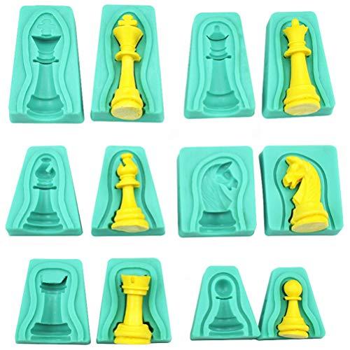Exceart - Set di 12 stampi per fallimenti in 3D per fallimenti, stampo in silicone epossidico, stampaggio per bricolage, torte al cioccolato di caramelle, pastelli di cera