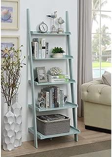 Convenience Concepts 8043391SF American Heritage Bookshelf Ladder, Sea Foam