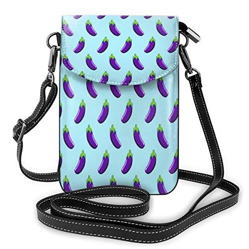 Hdadwy Kleine Umhängetasche Handy Geldbörse Brieftasche Aubergine Lila Reise Pass Tasche Handtaschen für Frauen