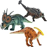 Class Collections Ankylosaurus Triceratops and Parasaurolophus Dinosaur Figure 8 inch Children s Toy 3 Piece Playset