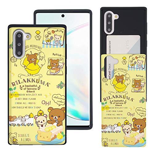 Compatible with Galaxy Note10 Plus Case (6.8inch) Rilakkuma Slim Slider Card Slot Dual Layer Holder Bumper Cover - Rilakkuma Cooking