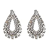Bohemian Style Resin Crystal Dangle Earrings For Women Fashion Jewelry Collection Earrings Accessories-C