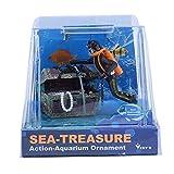 Zhat Fish Tank Treasure Box, Fish Tank Treasure Hunting Frogman Artesanía Fina con 1 Uds para pecera para Aficionados