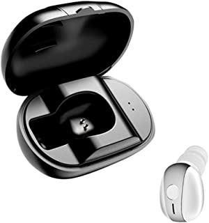 Wireless Headphones,Wireless Earbuds S518 Unilateral Mini Wireless Bluetooth 4.1 Stereo In-Ear Earphone Sport Earbuds - White Silver with Charge Box