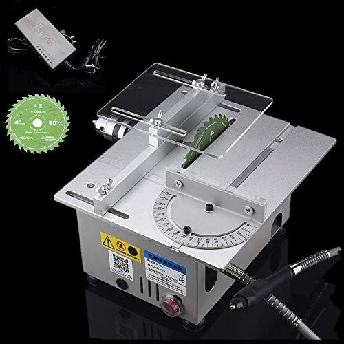 Tischkreissäge Professional Tischkreissäge DIY Mini Holzbearbeitung Modellschneidemaschine 240 X 200 X 130mm Silber