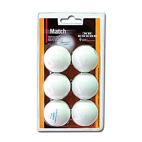 Pelotas Tenis de Mesa Enebe Match 40 mm Blister 6-BL 🔥