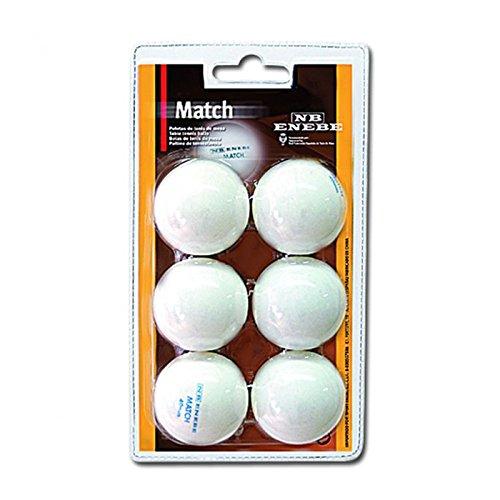 Pelotas Tenis de Mesa Enebe Match 40 mm Blister 6-BL