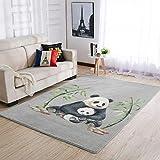 Cyliyuanye Alfombra elegante para salón, dormitorio, comedor, duradera, 50 x 80 cm, color blanco