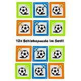Lg-Imports 12x Schiebepuzzle Kinder Puzzle Spiel Geduldspiel Mitgebsel Geburtstag Fußball