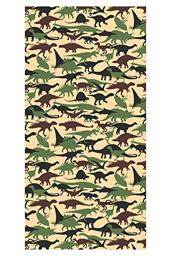 LimeWorks Badetuch, 70x140 cm, Dinosaurier-Muster, Made in EU