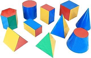 Geometric Shapes mathematics teaching aids,10 sets of magnetic three dimensional geometric models, 3D Shapes Miniature Set