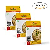 Basmati Rice Pilaf with Cumin seeds (Jeera Rice) Pack of 3 - Freeze Dried Gluten-Free Gourmet Indian Entree Ready in 5 min Vegetarian Meal, by The Indian Kitchen Foods Co. - Each Rehydrated 8.50 oz