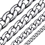 ChainsHouse Cadena Cuello Acero Inoxidable Cadenas para Hombre 5mm Ancho 51cm Largo Gratis Caja de Regalo