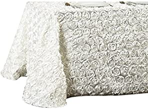 LinenTablecloth Rosette Rectangular Tablecloth 154 Inch