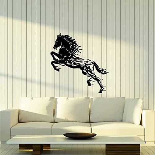 Calcomanía de pared con silueta de caballo, gota de agua, Animal abstracto, semental, Mustang, espíritu salvaje, vinilo, pegatina para ventana, decoración para sala de estar