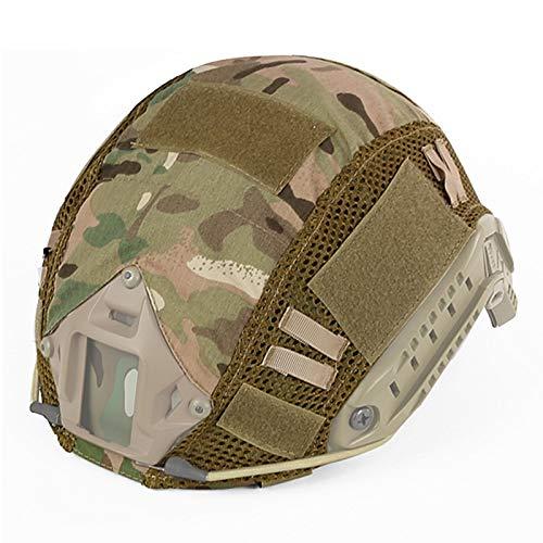 SUNRIS Cubierta de camuflaje para casco táctico de combate militar tipo MH/PJ/BJ rápido casco Airsoft Paintball caza equipo de tiro