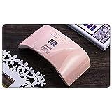 ZYC Lámpara LED secador de uñas LCD 12 LED, lámpara UV para secar gel, sensor de coche, temporizador de manicura, color rosa