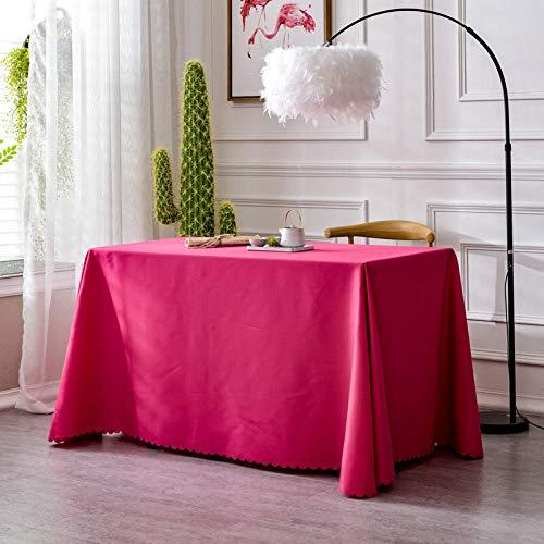XQSSB Mantel para Mesa Patrón de Cocina Salón Durable para Las Mesas Cuadradas Rectangular Rosa Roja 200 × 360cm