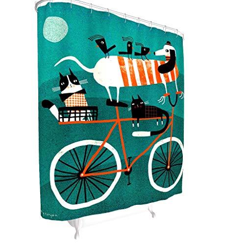 Toomjie Muster Duschvorhänge wasserdichter Shower Curtain Badewannenvorhang 100{fad9ba1ca16954229ce3ad7801c80b8c1f415139cafcd8439071dda72e4c6539} Polyester White 200x200cm