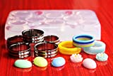 Multi-Clear-Silicone Ring Molds 8pc,Size Multi-Color-{7.5}{8}{8.75}Silver{8}{9}{10}{11.5}{13} (1-92)
