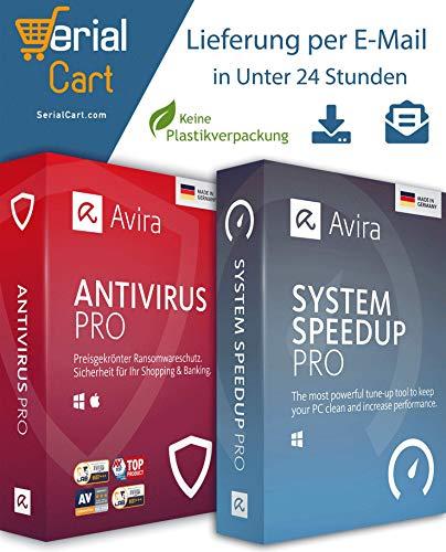 Avira Antivirus Pro + Avira System Speed up Pro 2020 | 3 Geräte / 1 Jahr | von SerialCart [Aktivierungscode per Post/Download]