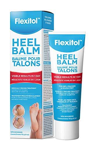 Flexitol Baume pour talons – Hydratant et exfoliant super-concentré, adapté aux diabétiques, provitamine B5, vitamine E et L-Arginine, 112 g