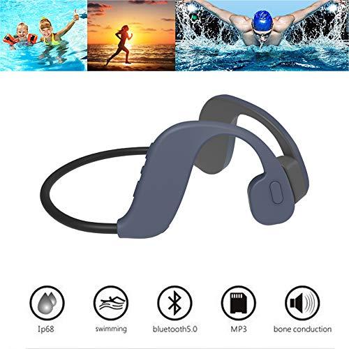 RSGK Cuffie da Nuoto a conduzione ossea Bluetooth 5.0, archiviazione Integrata 32G, utilizzate per Palestra, Immersioni subacquee, Surf, Lettore MP3 Impermeabile IP68