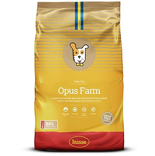 Husse - Opus Farm 12 Kg | Pienso para Perros | Función Digestiva y Monoprotéica | Sabor Pollo y Salmón Ingredientes