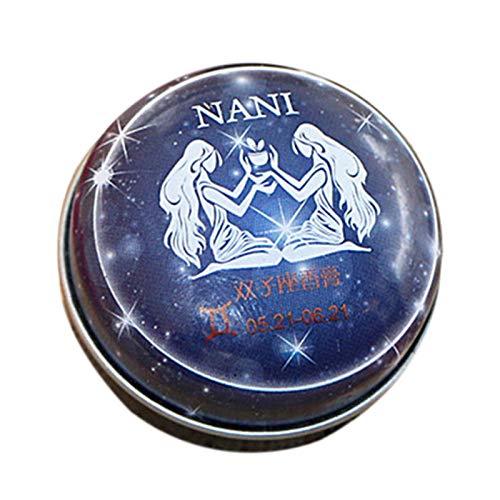 TOOGOO Baume Magique Parfum Solide Déodorant Solide Magie Du Zodiaque de Constellation Pour Les Femmes Hommes (Gémeaux)
