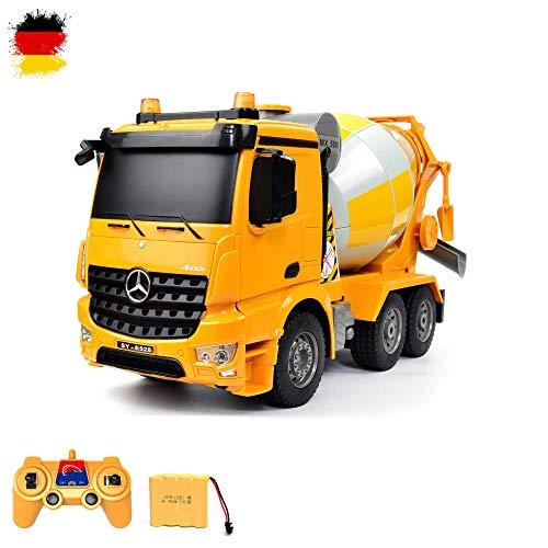 Mercedes-Benz Arocs-2,4 GHz RC zdalnie sterowany mikser cementowy betoniarka ciężarówek ciężarowych skala 1:26, kompletny zestaw z akumulatorem i ładowarką