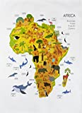 Half a Donkey Animals, Plants and Sealife of Africa Cotton Tea Towel by