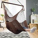 Bathonly Large Caribbean Hammock Hanging Chair with-Soft Spun Cotton...