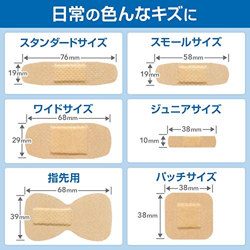 『BAND-AID(バンドエイド) 救急絆創膏 肌色タイプ ジャンボ[Sサイズ] 10枚』の4枚目の画像