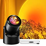 Baulanna Sunset Projection Lamp, Sunset Lamp, USB LED Projector Lights, 180° Rotation, Romantic Atmosphere Lights for Living Room, Bedroom, Decoration