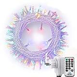 NEXVIN Luces de Arbol de Navidad, Guirnalda Luces 23M 200 LED, Cadena de Luces Colores con Control Remoto, 8 modelos de lluminación, Luces de Navidad Decoración Fiestas, Balcón, Casa, Arbol
