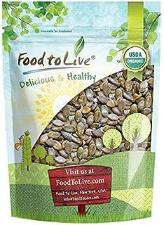 Organic Dry Roasted Pumpkin Seeds with Sea Salt, 1 Pound — Non-GMO Kernels, Pepitas, Kosher, Vegan, No Shell, Healthy Snac...