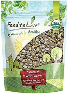 Organic Dry Roasted Pumpkin Seeds with Sea Salt, 2 Pounds — Non-GMO Kernels, Pepitas, Kosher, Vegan, No Shell, Healthy Snack, Bulk