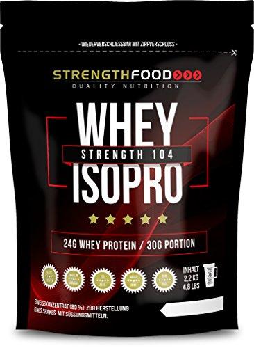 Whey Protein Isolate Schoko - mit Stevia und Xylit gesüßt - Low Carb Instant Eiweiss Shake - - 2200g Packung (Schoko)