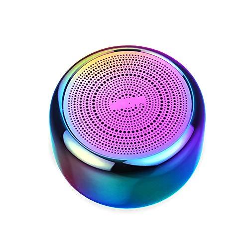 YUHUANG Outdoor-Lautsprecher, eingebautes Mikrofon, Aluminium-Gehäuse, Mini-Lautsprecher, drahtlose Bluetooth 4.2 MP3-Musik-Player-four